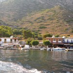 Telendos isle is ten minutes away from the west coast of Kalymnos.