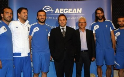 Aegean Airlines, official sponsor of the Greek National Football Team.