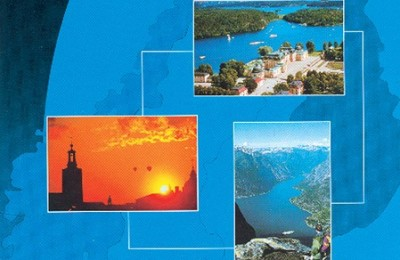 Wayfare Aviation Services' new brochure, which suggest every kind of tour to Scandinavian destinations.