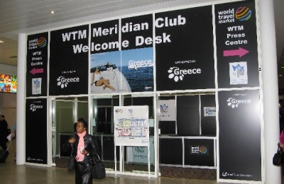 This will be the eighth year, the Greek National Tourism Organization (GNTO) will sponsor the World Travel Market (WTM) International Press Center (archive photo).