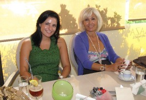 Goldair Group's former public relations manager, Margarita (Rita) Zambeli (right )with the group's new PR manager, Despina Mavridou at the Athens Plaza.
