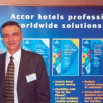 George Stavrou, sales manager for the new Sofitel Athens Airport now under construction at Spata. The new deluxe hotel opens May 1, 2001.