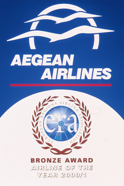 Bronze Airline of the Year 2000/1 award was given to Aegean Airlines.