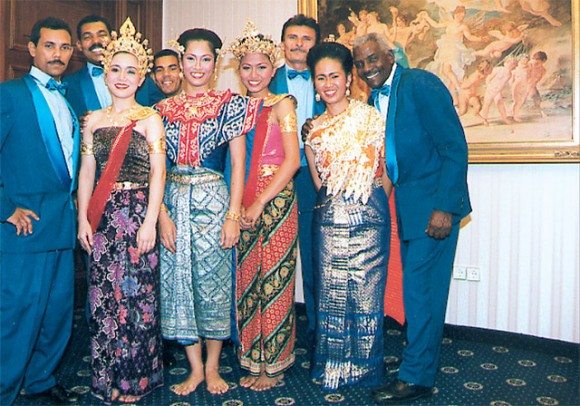 Cuban and Thai groups provided entertainment.