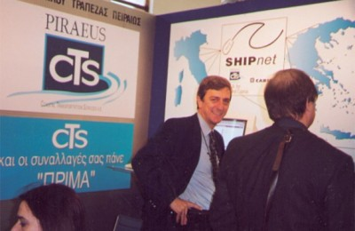 CTS's Nikos Spyridakis at his Philoxenia stand.