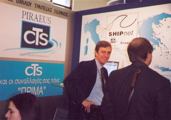 CTS's Nikos Spyridakis at his Philoxenia stand.