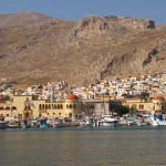 Pothia, the capital town of Kalymnos island, is a mix of different architecture and eras.