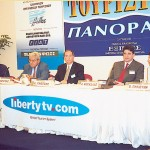 A presentation by Liberty.com Greece showed that travel agents have yet another competitor. Besides being a Paneuropean satellite station to present tourism destinations and cheap advertising, Liberty has an Internet site and an eight-language telephone center capable of booking travel, lodging and tourism packages advertised.