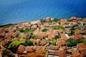 Monemvasia, located in Lakonia, southeastern Peloponnese.