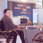 """Tourism professionals got some """"user-friendly"""" information on Solid's travel office software from the company's computer expert, Leonidas Dedousis."""