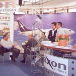 """Axon's staff promoted the airline's high standards and its new """"Next Generation"""" 737-700s and 717-200 passengers jets on domestic and international routes."""