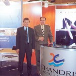 Stavros Filippelis, director of sales for the Chandris hotel group, with Nicholas Panteloukas, general manager of the Chios Chandris hotel.