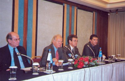 SETE's president, Spyros Kokotos (second from left), lashed out at government for failing to create a long term tourism strategy.