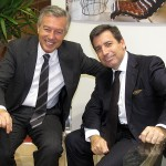 Association of Greek Tourism Enterprises (SETE) President Andreas Andreadis and Andreas Stylianopoulos, president and CEO of Navigator Travel and Tourist Services.