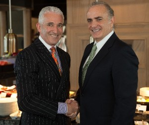 Rob Fyfe, CEO Air New Zealand and Calin Rovinescu, President and Chief Executive Officer of Air Canada.