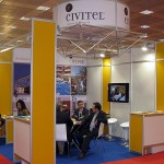 Civitel Hotels & Resorts stand. Civitel represent four properties – two in Athens and two in Crete – that offer the very best of Greek hospitality combined with international standards. The name Civitel comes from joining the words Civic and Hotel, reflecting the company's civic values and honoring Greek civilization.