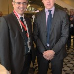 GNTO President Nicolas Kanellopoulos and the organization's new secretary general, Yiorgos Koletsos, at ITB. Prior to being appointed GNTO secretary general, he was president of the Mediterranean Games organizing committee, which were to be held in Volos and Larisa in 2013. Mr. Koletsos replaced Yiorgos Pousaios who had resigned from the position of GNTO secretary general last November in order to participate in the municipal elections.