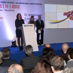 "Tourism Minister Olga Kefalogianni during the opening ceremony of Philoxenia 2012. ""This year's Philoxenia exhibition can and should be a starting point for a new tourism policy,"" she said."