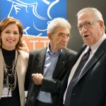 Thessaloniki Mayor Yiannis Boutaris (center) with HATTA's vice president, Despina Amarantidou, and president, Giorgos Telonis.