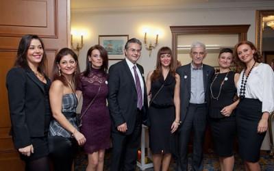 The Mediterranean Palace group with Thessaloniki Mayor Yiannis Boutaris (third from right): Dimitra Samara, Dora Stathopoulou, Chrysa Tsountali, Yiannis Aslanis (general manager), Rafaela Tzikou, Katerina Toutziari and Maria Hatziparaschi.