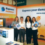 Travel Plan's Despina Rigatou (retail area director), Christina Tsiliakou (marketing manager) with Express Holiday's store supervisors Irene Argyropoulou and Virginia Mitrousi. Express Holidays distributed this season's new catalogue that had very attractive early booking offers for Summer 2011.