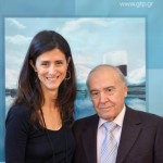 GTP's Maria Theofanopoulou with Dinos Mitsiou, President and CEO Amphitrion Holidays.