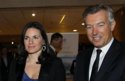 Tourism Minister Olga Kefalogianni and SETE President ANdreas Andreadis. Mrs. Kefalogianni said she expects the private sector and SETE to contribute greatly to the ministry's efforts for tourism.