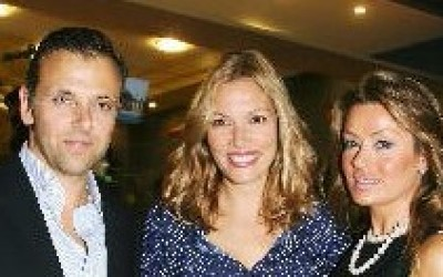 Air Exelixi Travel's managing director, Yannos Economides, with guests Vicky Kaya and Marilia Vazeou
