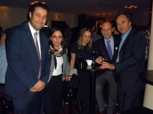 Anatolia's general manager and member of the Thessaloniki Hotels Association, Mihalis Chrysochoidis, with the association's office manager, Anta Kapsali; member, Evelin Christopoulou (Olympia Hotel); vice president, Konstantinos Alexopoulos (Domotel Les Lazaristes) and president, Aristotelis Thomopoulos (Holiday Inn Thessaloniki).
