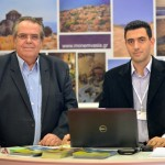 Laconia Hotel Association President Dimitris Pollalis with Chairman of the Tourism Committee of Municipality of Monemvasia Charalampos Lyras.