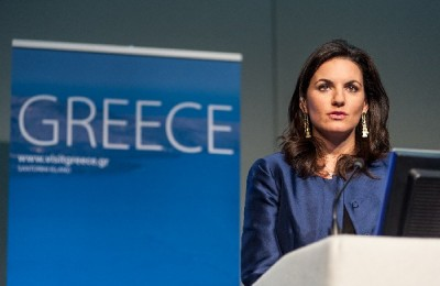 Greek Tourism Minister Olga Kefalogianni during her recent visit to the WYM 2012 in London, UK.