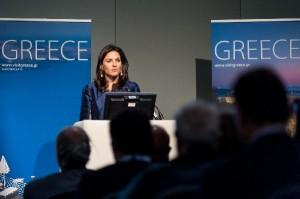 Greek Tourism Minister Olga Kefalogianni.