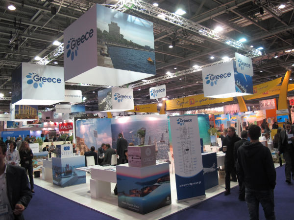 WTM 2012 - Greek National Tourism Organization pavilion.