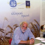 Supervisor of the Greek Breakfast program Giorgos Pittas at the Hellenic Chamber of Hotels stand.