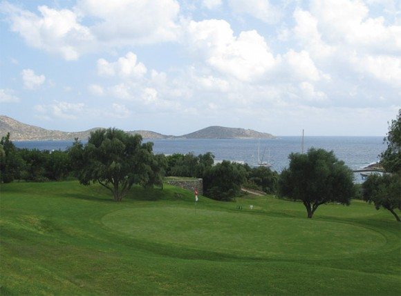 """The Porto Elounda golf course on Crete. According to the WSJ article, entitled """"Golf in Greece: A Byzantine Ordeal,"""" Greece has only six full-size golf courses, compared with nearby Spain, which has more than 300."""