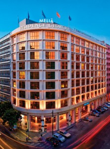 The Melia Athens located on Kaningos Square in central Athens.