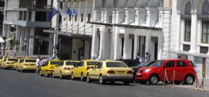 Greek taxi cabs