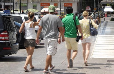 Tourists in Athens