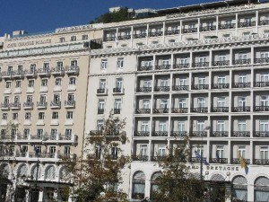 The King George Palace and Hotel Grande Bretagne on Syntagma Sqaure.