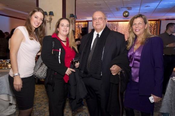 NJV Athens Plaza General Manager Aphrodite Arvaniti (far right) with Goldair's Christos Konstantinidis and Christina Mastoridou.