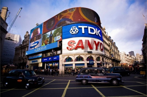 UP Greek Tourism's third project is to raise funds and set up a billboard to promote Greek tourism on Piccadilly Circus, London.