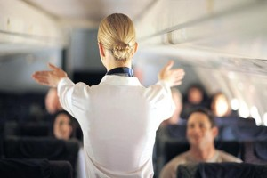 Airplane flight attendant.