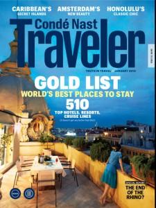 Condé Nast Traveler Gold List, January 2013