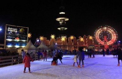Ice skating at Asterocosmos, Thessaloniki International Exhibition Center