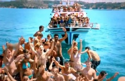 "Scene from UK reality series ""What Happens In Kavos…"" that recently aired on Channel 4."