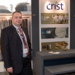 Linen & Textiles- Crist hotel basics is one of most well known and established companies in the textile sector that produces white fabrics since 1971 in a wide scale. Crist, a specialist in the hotel industry, guided HORECA visitors through the magnificient world of its bed linen in Hall 3. The company provides products able to correspond perfectly to the most difficult conditions of hotels while they have perfect texture and exceptional sewing. Pictured is the company's sales and marketing manager, Tasos Iordanopoulos.