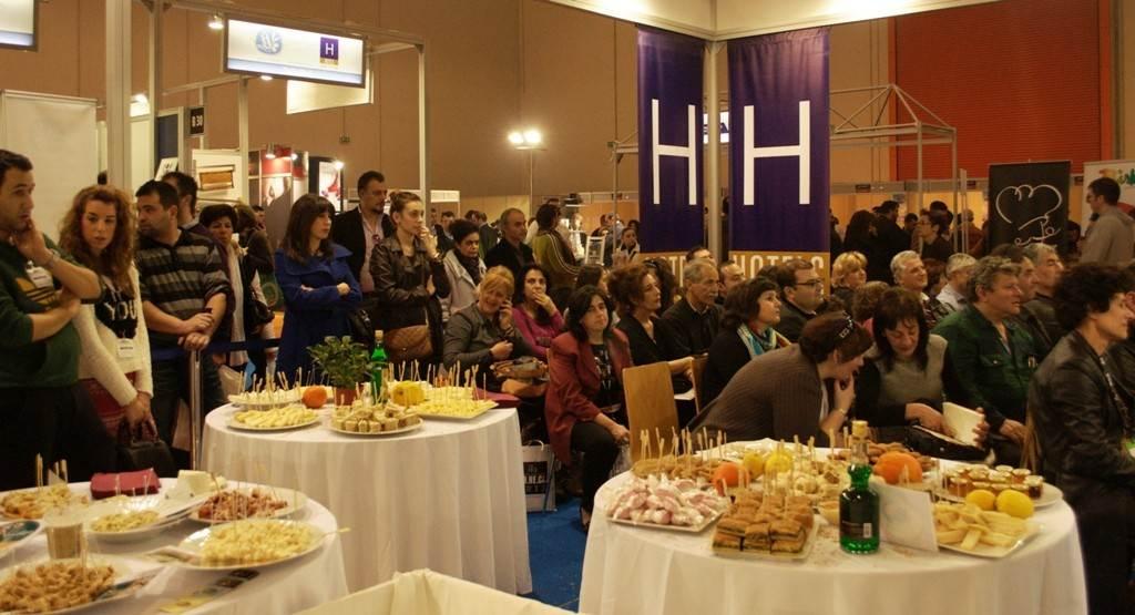 """""""Greek Breakfast"""" at 2013 HORECA."""