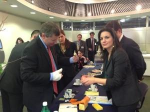 Greek Tourism Minister Olga Kefalogianni during her meeting with her Israeli counterpart Stas Misezhnikov, today, 5 February in Tel Aviv, Israel..