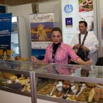 """Greek Breakfast"" - Rhodes stand. Local chef Irini Tsiolaki shows the products of Rhodes promoted by Greek hotels on the island through their breakfast buffets."