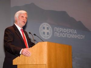 Governor of the Peloponnese Region Petros Tatoulis.